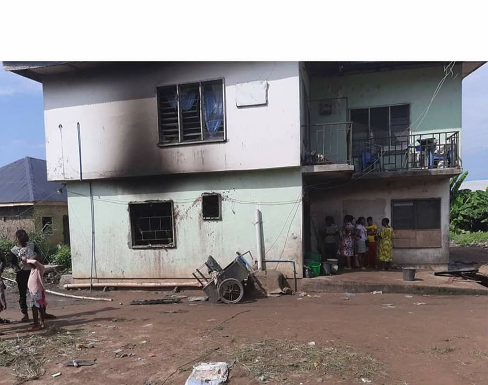Woman and her two children burnt to death in Rivers (photos)