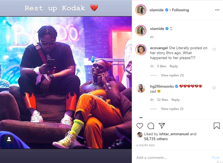 Nigerian video vixen and dancer, Kodak dies after allegedly being electrocuted while charging her phone