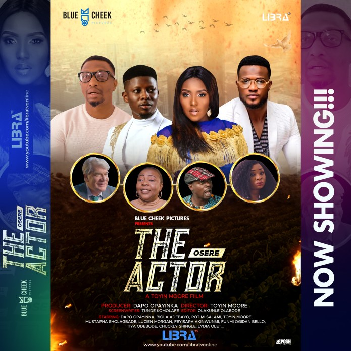Abiola Adebayo, Dapo Opayinka Rotimi Salami, Toyin Moore and Mustapha Sholagbade in THE ACTOR (?s?r?) Movie Showing Now on LibraTV (YouTube)