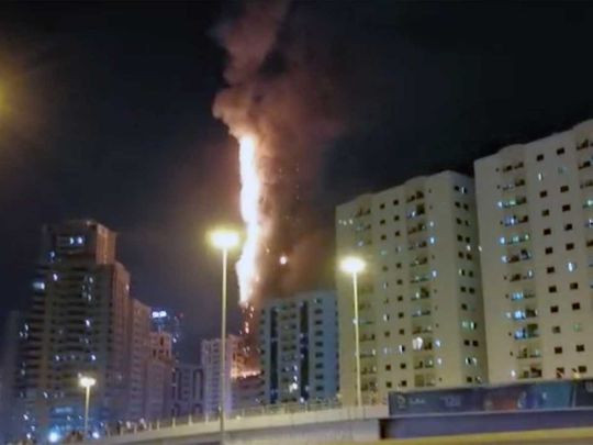 5eb1e558c46a5 48-storey building gutted by fire in UAE