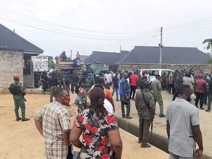 Governor Wike supervises demolition of two hotels for violating lockdown rules (photos/videos)