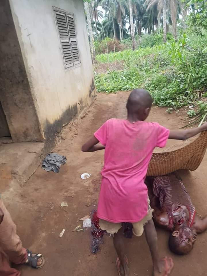 Man kills his cousin over mangoes in Abia (graphic photos)  Man kills his cousin over mangoes in Abia (graphic photos) 5ebd98296b8b3