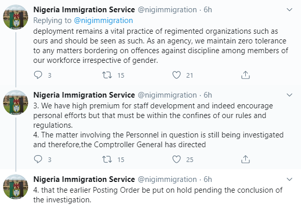 Nigeria Immigration Service suspends redeployment of five female officers who participated in Falz