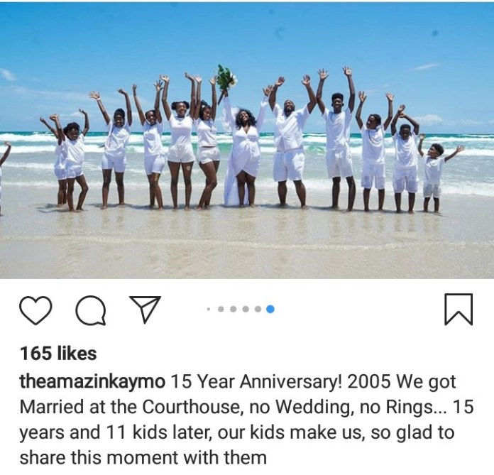 Couple celebrate their 15th wedding anniversary by having their dream wedding with their 11 children