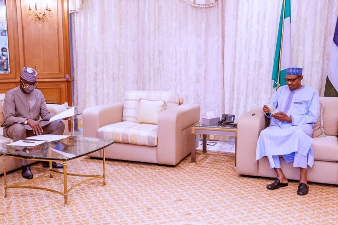 5ec1736846b4c President Buhari receives post lockdown report from COVID-19 task force team (photos)