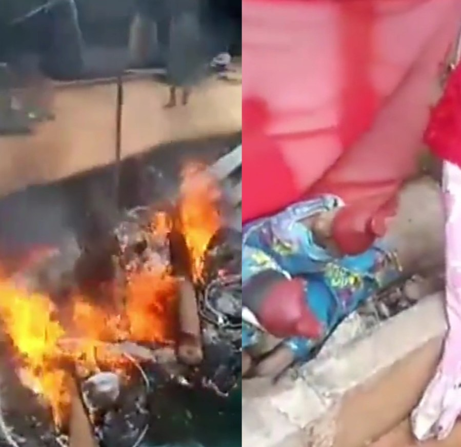 Commotion in Agulu as locals uncover fetish objects in a church (video)