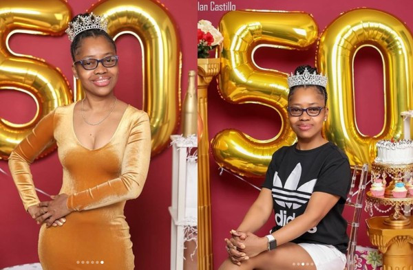 Black lady leaves social media users in shock with her 50th birthday photos