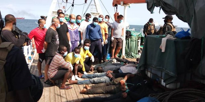 10 pirates arrested as Nigerian Navy foils hijack of Chinese vessel