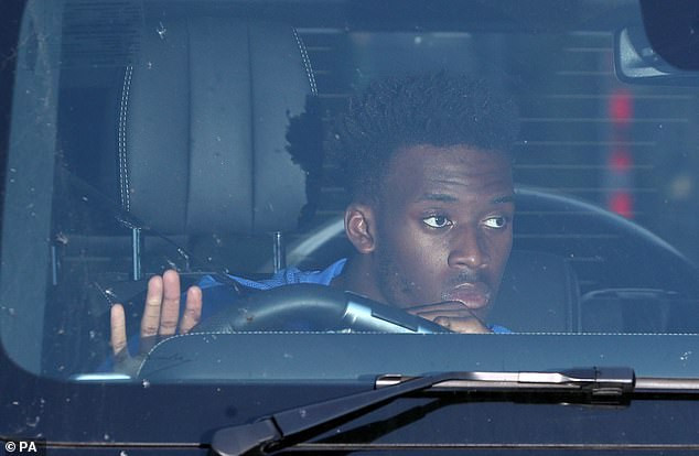 Chelsea star, Callum Hudson-Odoi pictured for the first time after he was arrested on suspicion of rape (photos)