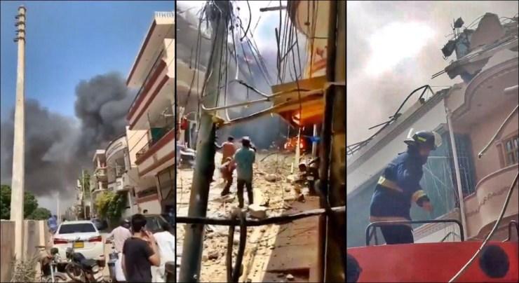 Pakistan plane with 107 passengers on board crashes near Karachi airport (Photos/Videos)
