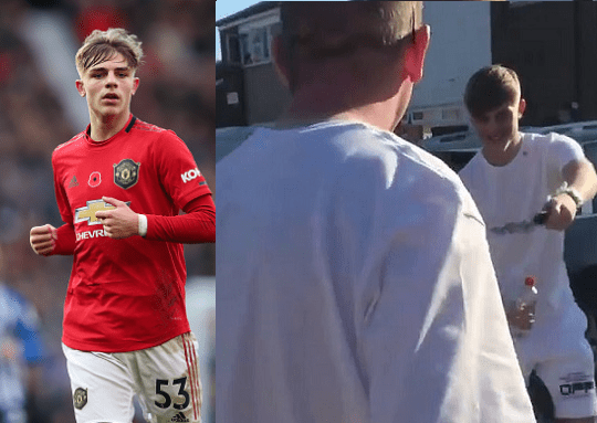 Manchester United defender, Brandon Williams, 19, surprises his dad with new £40,000 Mercedes on his birthday (video)