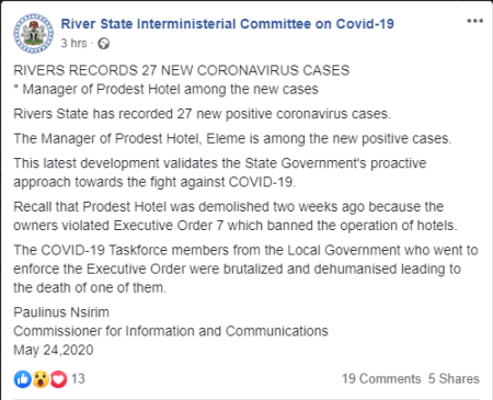 Rivers government