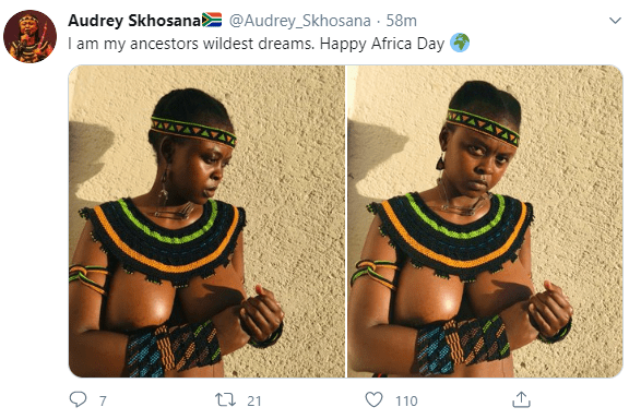 """South Africans celebrate """"Africa Day"""" by going naked"""