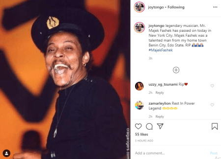 Music Legend Majek Fashek Dies At 57