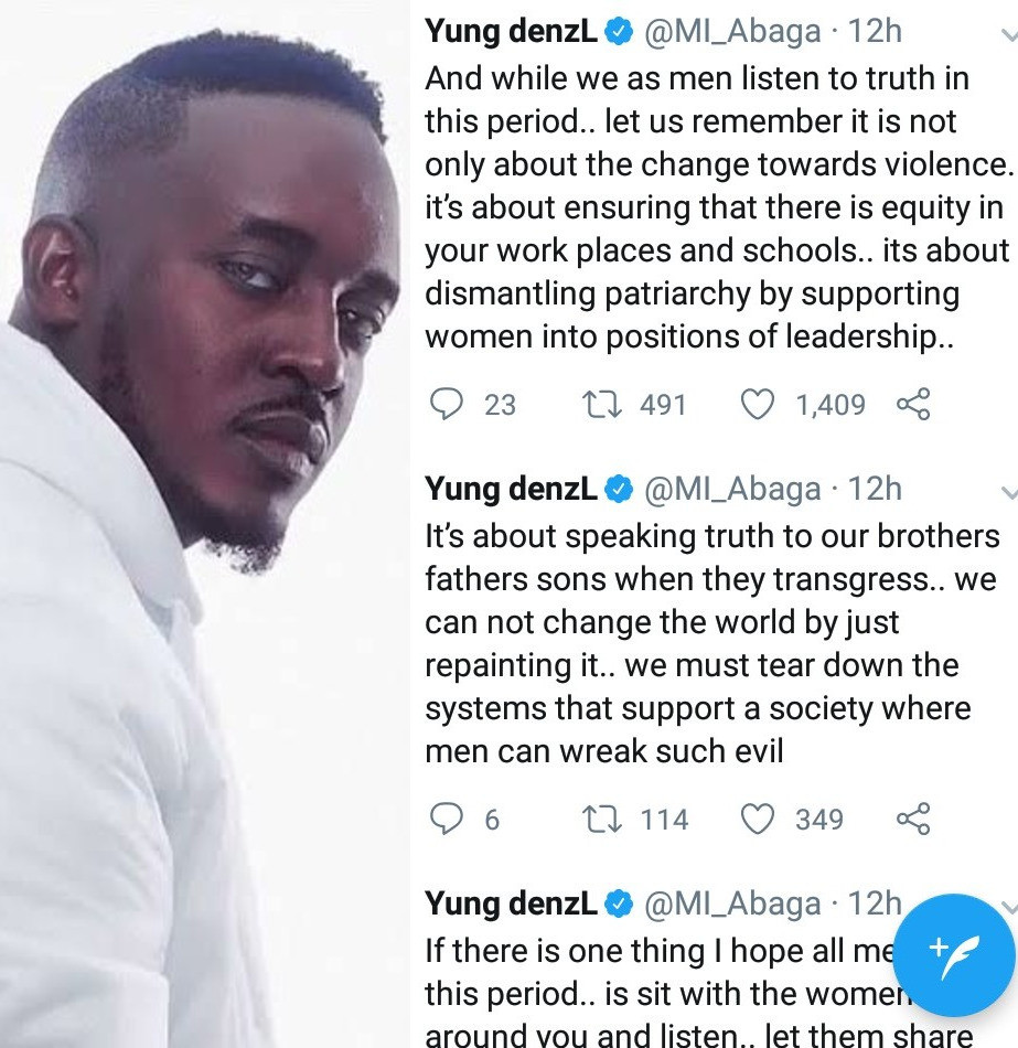 MI Abaga reveals what he hopes all men will do as the conversation about sexual assault and violence heightens