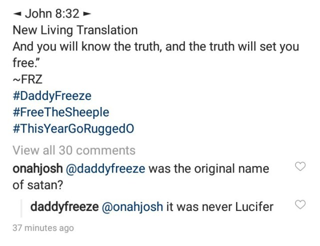 """King James Bible is the modern day slave book"" Daddy Freeze says as he explains why Lucifer is not Satan"