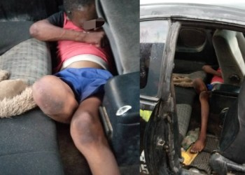 Missing boy found dead with his eyes plucked out in the back of a car in Suleja (graphic photos)