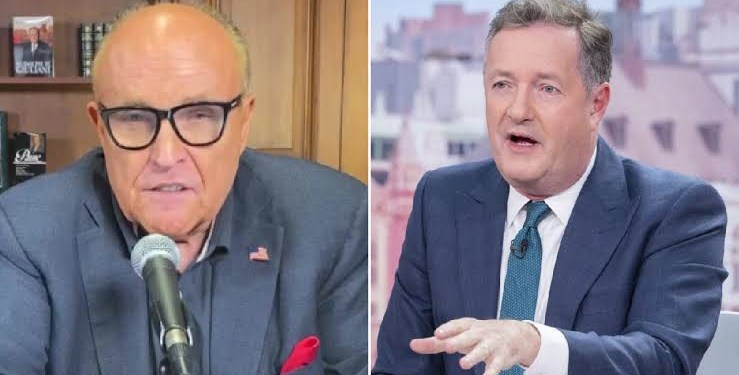 'You've gone completely mad' 'You're a failed journalist' - Watch Piers Morgan and Trump's lawyer Rudy Guliani blast each other on live TV broadcast (video)