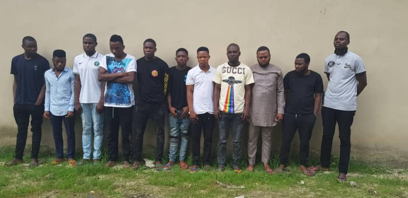 EFCC arrests 16 suspected Internet Fraudsters in Ogun, Lagos (Photos)