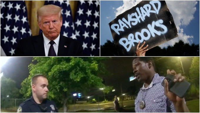 Rayshard Brooks shooting: Trump says police not being treated fairly