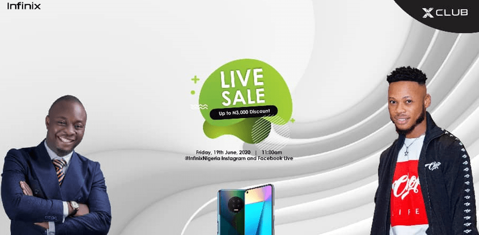 Join the Infinix Live sale with MC Lively and Poco Lee and get a discount on your purchase of the NOTE 7 and HOT 9