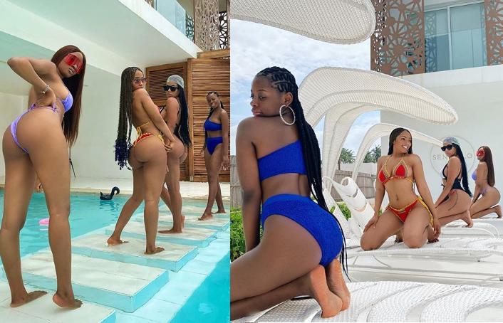 Mercy Eke, Kim Oprah, Venita, and Diane flaunt their bikini bodies in sexy new photos?