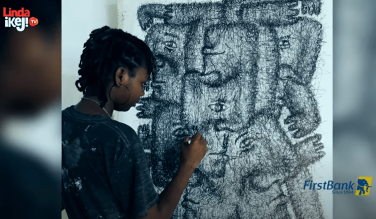 First Class Material episode 11: Meet Olayemi Olarinde Ayanfe, a young Nigerian scribble artist who discovered her talent by chance (video)