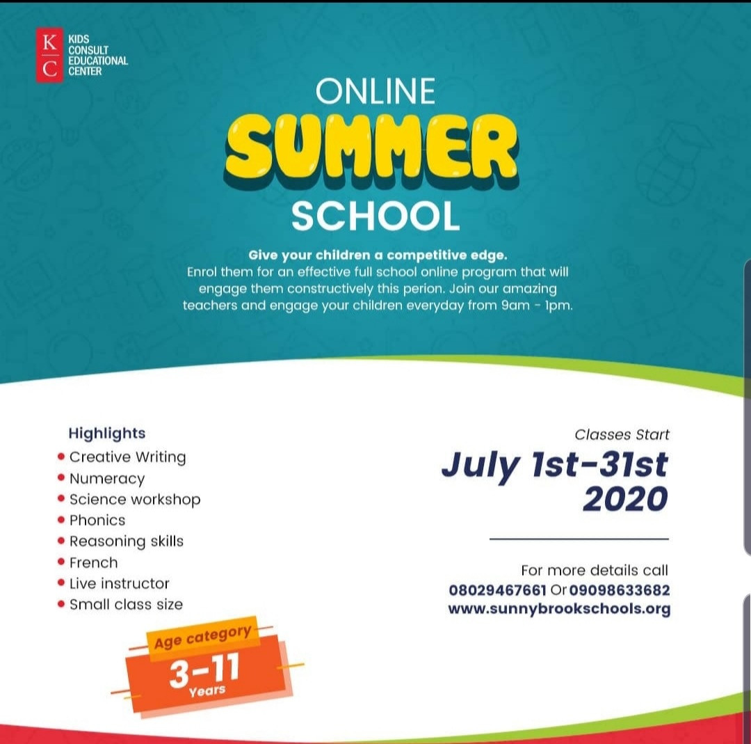 Enrol in a virtual summer school experience right from your home! Kids Consult Summer School 2020 is the best online school in Lekki