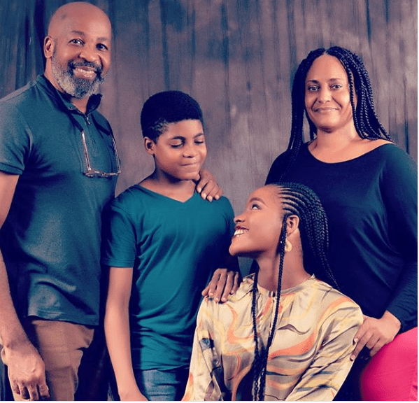Nollywood actor, Yemi Solade shares beautiful family photo with his wife and children