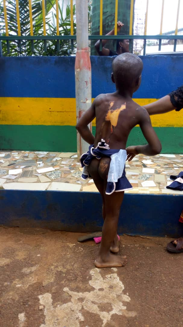 Enugu state police command release photo of woman who drilled a nail into the head of her housemaid