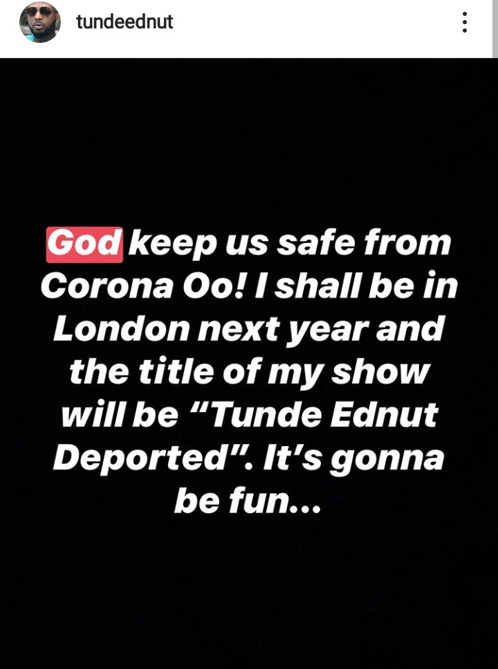Joro Olumofin and Tunde Ednut drag each other again after Tunde threw the first punch