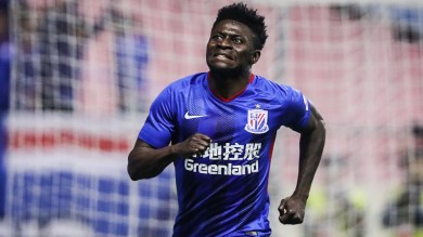 Obafemi Martins rejoins Shanghai Shenhua after two years without a club