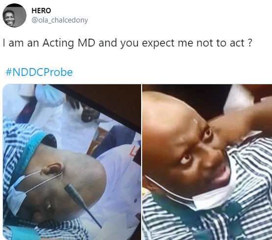 Nigerians react to video of NDDC boss fainting at the investigative panel