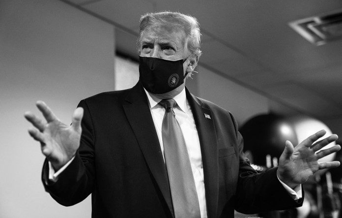 Trump tweets image of himself wearing a mask and calls it