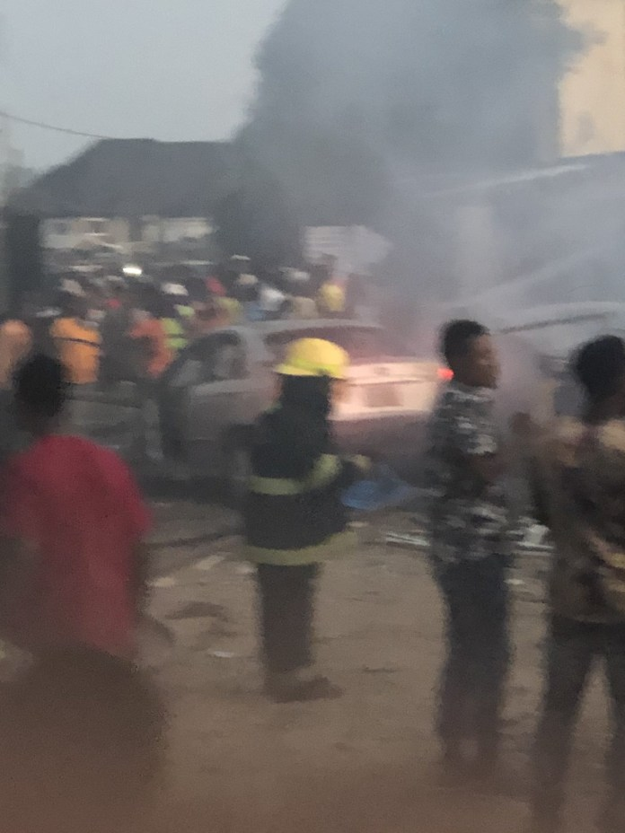 Two confirmed dead and many properties razed as gas explosion rocks Ajao estate in Lagos (photos/video)