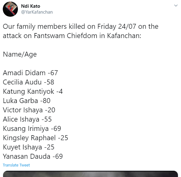 Young female politician, Ndi Kato releases graphic photos and names of her kinsmen who were murdered in Kafanchan