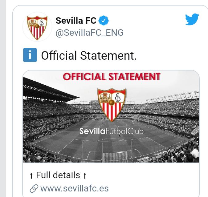 Sevilla star, Nemanja Gudelj tests positive for Covid-19 days before Europa League clash starts
