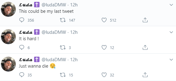 Twitter users express concern as man posts a series of suicidal tweets then goes silent