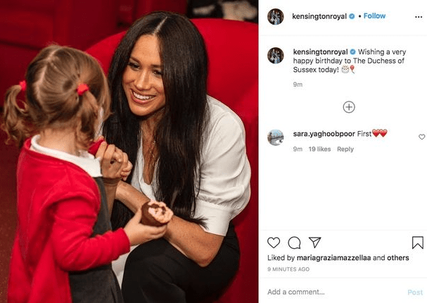 Members of the British royal family take to their respective accounts to wish Meghan Markle a happy 39th birthday