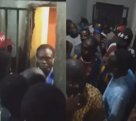 ?Is this social distancing?? Nigerian men lament after police arrested and locked them up in a crowded cell for violating curfew time  (video)
