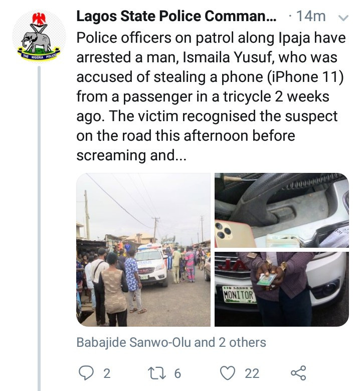 Police arrests man who allegedly stole an iPhone 11 from a passenger in a tricycle and attempted to bribe police when he was caught