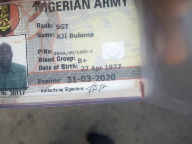 Soldier shot dead during an attack on a commercial bus in Enugu (graphic)