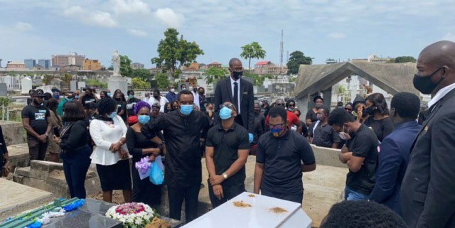 The FAAN worker who was crushed to death by a fallen container has been laid to rest in Lagos