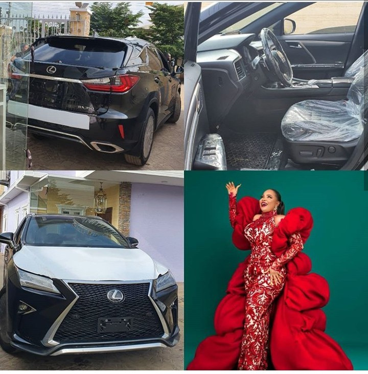 Film maker, Okiki Afolayan gifts wife Bimbo Afolayan a Lexus SUV for her birthday