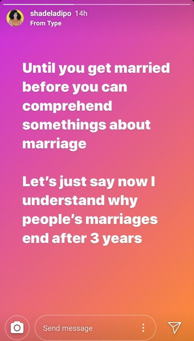 I now understand why marriages end in divorce - Shade Ladipo says one year after she got married