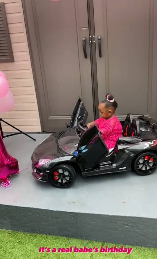 OAP, Maria Okan, celebrates her daughter on her first birthday (photos/video)