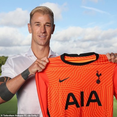 Ex-Manchester City goalkeeper, Joe Hart completes shock transfer to Tottenham Hotspur (Photos)