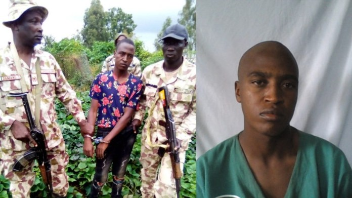 Military taskforce re-arrests escaped prison inmate in Plateau state (photos)
