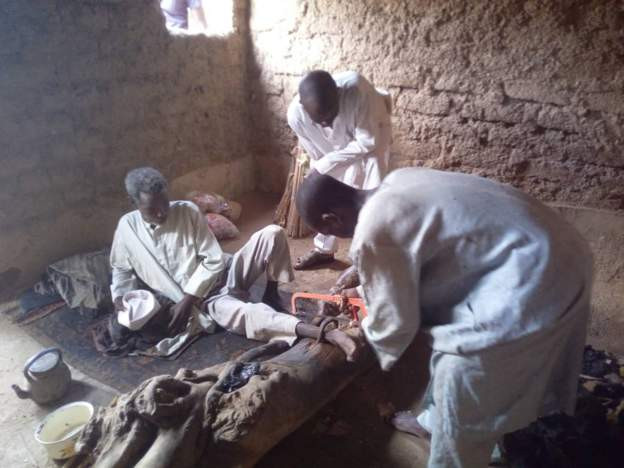 Police rescue 55 year-old man chained for 30 years by his father in Kano (photos/video)