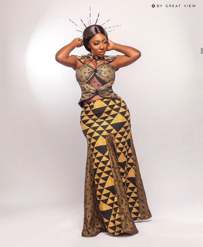 5f4365d60a7f1 Yvonne Jegede recreates the look she wore for Tuface Idibia's African Queen music video to mark 16 years in the entertainment industry